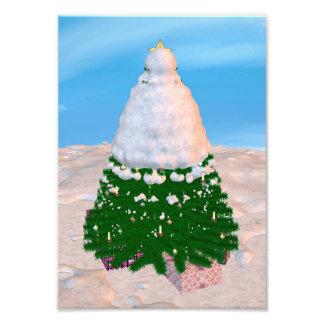 Christmas Tree and Presents Photo Print