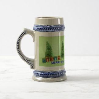 Christmas Tree and Present's Stein 18 Oz Beer Stein