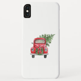 Christmas Tree and Red Truck iPhone XS Max Case