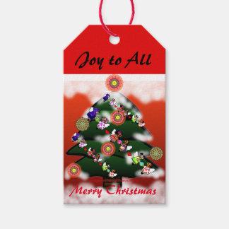 Christmas tree and Snow Custom Gift Tags