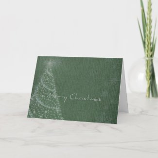 Christmas Tree and Snowflakes card