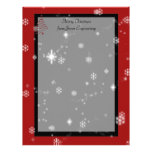 Christmas Tree and Snowflakes on Red and Black Custom Letterhead