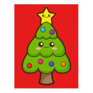 Kawaii Christmas Tree Postcards | Zazzle