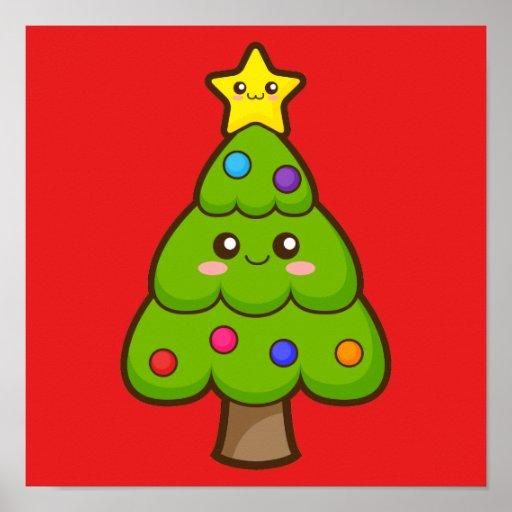Christmas Tree and Star Poster
