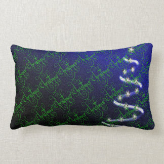 Christmas Tree and Stars - Lumbar Pillow
