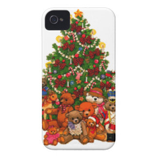 Christmas Tree and Teddy Bears Case-Mate iPhone 4 Case