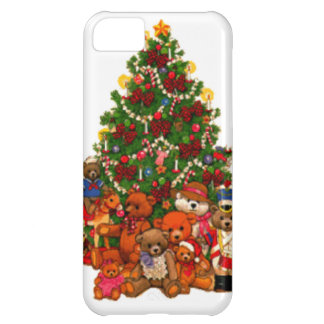 Christmas Tree and Teddy Bears Cover For iPhone 5C