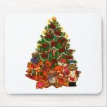 Christmas Tree and Teddy Bears Mousepad
