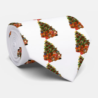 Christmas Tree and Teddy Bears Tie