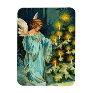 Christmas Tree Angel Vinyl Magnets