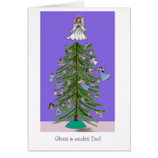 Christmas Tree Angels Cards