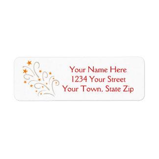 Christmas Tree Art Address Labels