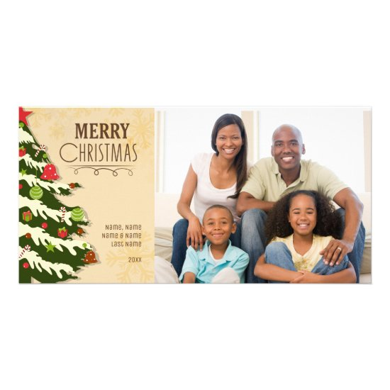 Christmas Tree Art, Christmas Photo Card