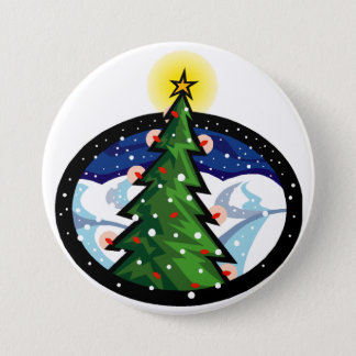 Christmas Tree at Night Pinback Button