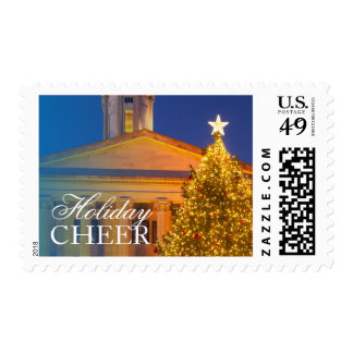 Christmas tree at the Tennessee Capitol Building Postage Stamp