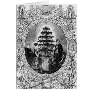 Christmas Tree at Windsor Castle, 1848 Card