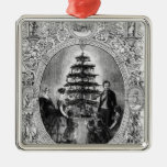 Christmas Tree at Windsor Castle, 1848 Metal Ornament