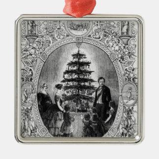 Christmas Tree at Windsor Castle, 1848 Metal Ornament