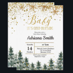 """Christmas Tree Baby Shower invitation Winter<br><div class=""""desc"""">Snow Baby it's cold outside Winter Baby Shower invitation.</div>"""