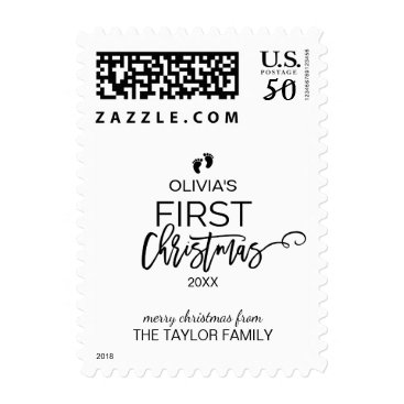 Toddler & Baby themed Christmas Tree Baby's First Christmas Postage