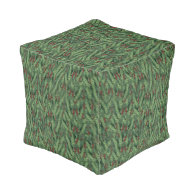Christmas Tree Background Cube Pouf