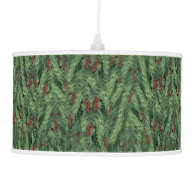Christmas Tree Background Hanging Pendant Lamp