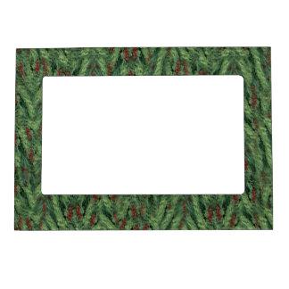 Christmas Tree Background Photo Frame Magnet