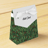 Christmas Tree Background Party Favor Boxes