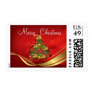 Christmas tree background postage