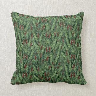 Christmas Tree Background Throw Pillow