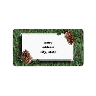 Christmas Tree Background w/Tag Custom Address Labels