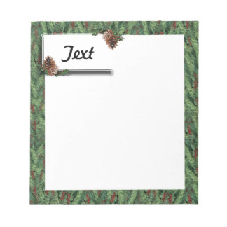 Christmas Tree Background w/Tag Note Pad