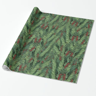 Christmas Tree Background Wrapping Paper
