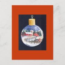 Christmas Tree Ball Holiday Postcard
