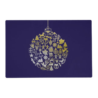 Christmas Tree Ball Ornament + your ideas Placemat