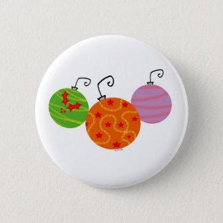 Christmas tree balls button