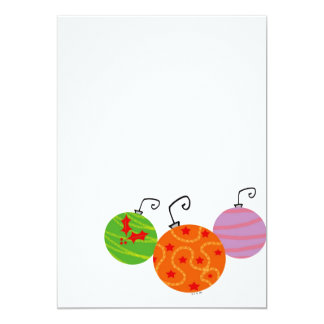 Christmas tree balls card