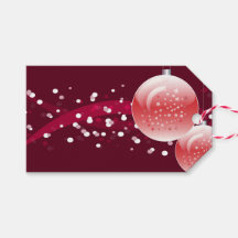 christmas tree balls pack of gift tags