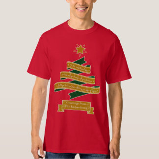 Christmas Tree Banner Typography Star Personalized T-Shirt