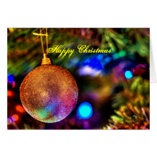 Christmas tree bauble card