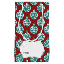 christmas tree bauble ornaments pattern small gift bag