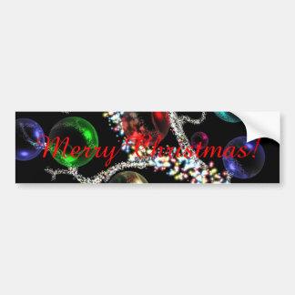 Christmas Tree Baubles Car Bumper Sticker