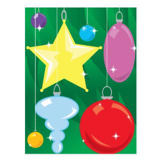 Christmas Tree Baubles Postcard