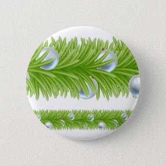 Christmas Tree Baubles Wreath Garland Design Pinback Button