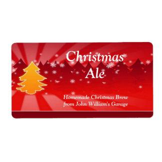 Christmas Tree Beer Label