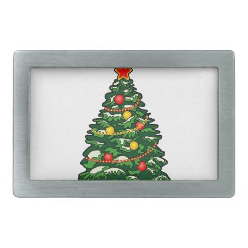 Christmas tree belt buckles