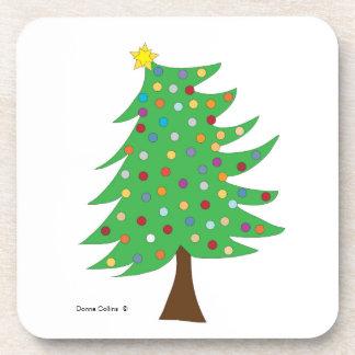Christmas tree beverage coaster