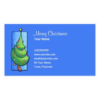 Christmas Tree blue Business Card