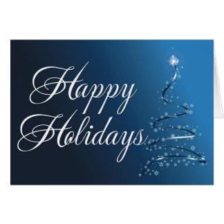 christmas tree blue card