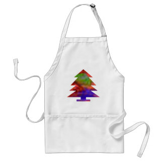 Christmas Tree - Blue Red Green Apron